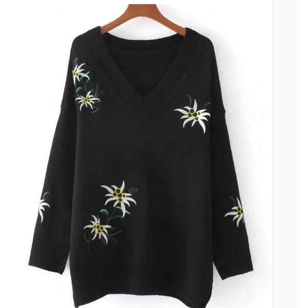 Cashmere embroidered jumper