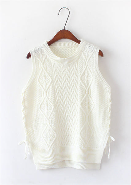 Autumn Winter Vintage Knitted Vest Knitwear