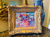 KADLIC Impasto Colored Landscape Abstract Gilt Ornate Gold Wood Frame 15""