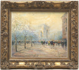 Paris Street Painting 1900s French Impasto Original Oil Signed Herbert Beck