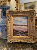 KADLIC Original Oil Painting Abstract Landscape Impasto Gold Gilt Frame 13x15""