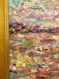 KADLIC Abstract Expressionist Impasto Original Oil Painting + Gold Frame 24x20
