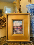KADLIC Abstract Impasto Landscape Original Oil Painting Gold Gilt Frame 14""