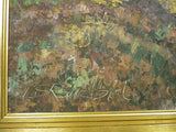 Mid Century Signed Danish Original Oil Painting Large Impasto Landscape 25x36""