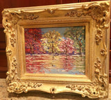 KADLIC Trees Landscape Seascape Autumn Gilt Wood Frame 8x10""