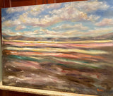 KADLIC Abstract Landscape Expressionist Impasto Original Oil Painting 40x30