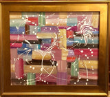 KADLIC Abstract Expressionist Impasto Original Oil Painting Gold Frame 24x20