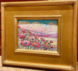 KADLIC Abstract ImpastoLandscape Original Oil Table Painting Gold Gilt Frame 10""