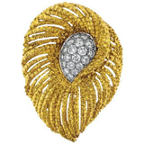CARVIN French 18k Gold 1.75 ct G/VS Diamond Brooch Pin Pendant