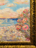 KADLIC Abstract Sunset Seascape Impasto Original Oil Painting Gold Frame 24