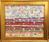 "KADLIC Abstract Impasto Modern Original Oil Painting 20""x24"" Gold Gilt Frame"