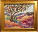 "KADLIC Abstract Impasto Tree Fall Original Oil Painting 20""x24"" Gold Gilt Frame"