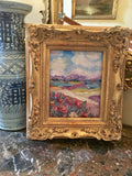 KADLIC Original Oil Painting Tuscany Italy Landscape Gold Gilt French Frame 8x10