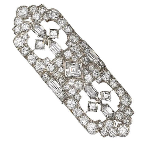Tiffany & Co. Art Deco 6.40 Ct G VS1 Diamond Brooch Pin Pendant Box Appraisal