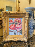 KADLIC Floral Seascape Wild Flowers Gilt Wood Frame 8x10""