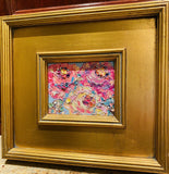 KADLIC Abstract Impasto Floral Original Oil Painting Gold Gilt Frame Fine Art