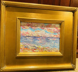 KADLIC Mediterranean Seascape Original Oil Painting Gold Gilt Frame 9x12""