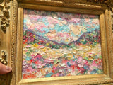 "KADLIC Abstract Impasto Landscape Original Oil Painting 8x10"" Gold Gilt Frame"
