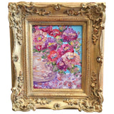 KADLIC Floral Poppies Flowers Original Oil Painting 8x10 French Gold Gilt Frame