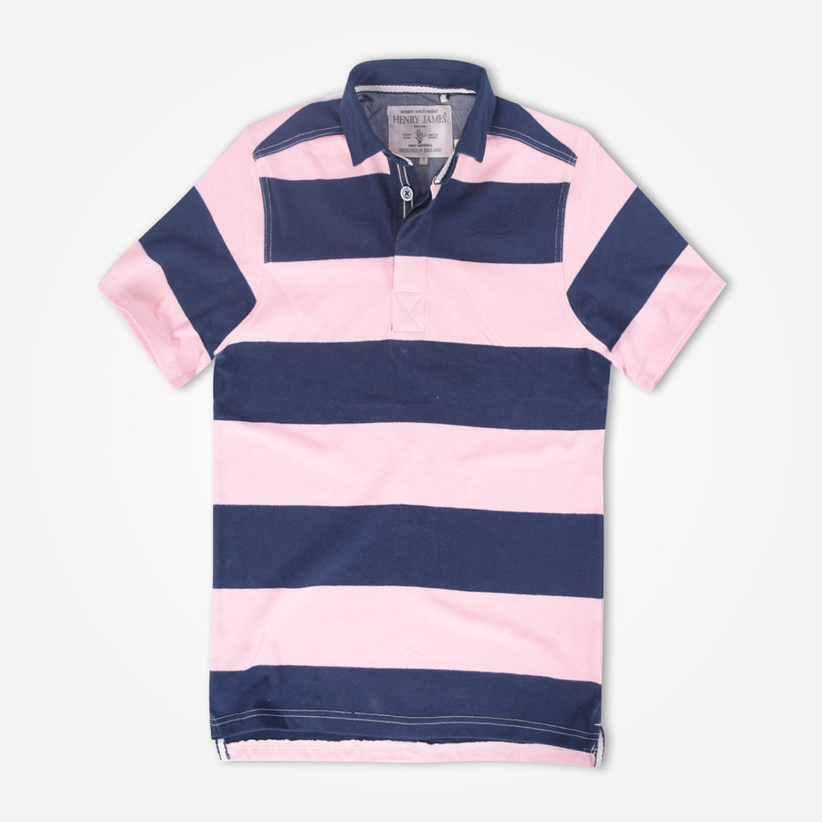 Pluto Dyed Yarn Block Striped Short sleeve Polo shirt