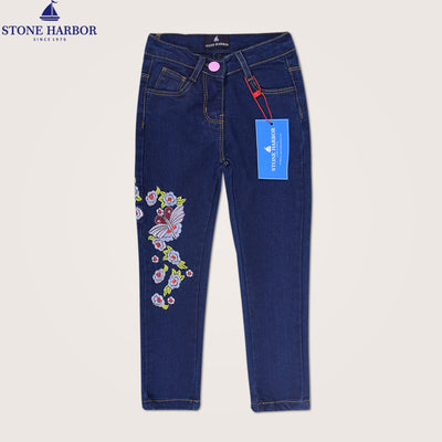 Skinny fit Embroidered  Papallona Stretch Denim - Klashcollection.com