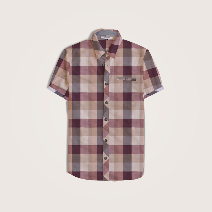 Conall Short Sleeve Checked Casual Shirt