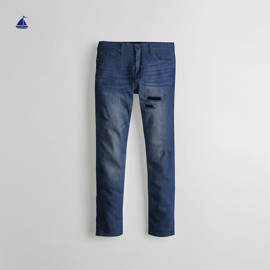 Stone Harbor Sky Ripped Skinny Fit Superstretch Denim Pants