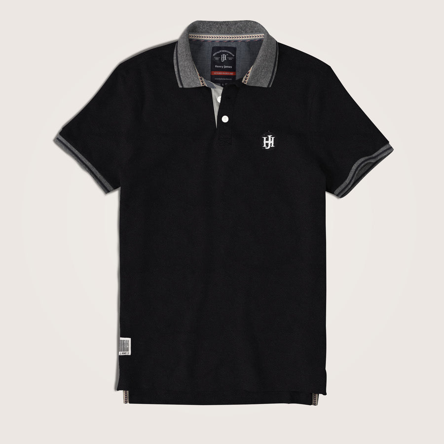 Jaxon Contrast Collar Signature Pique Polo Shirt - Klashcollection.com
