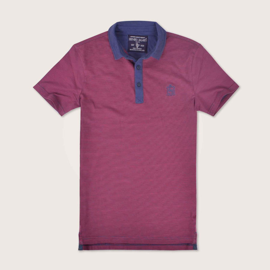 Daniele Contrast Placket jersey Signature Polo Shirt