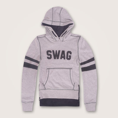 Double Impact Swag Pullover hoodie with Zipper Side Slits - Klashcollection.com