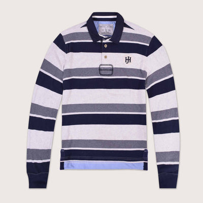 Sigma Classic Striped Long Sleeve Rugby Shirt - Klashcollection.com
