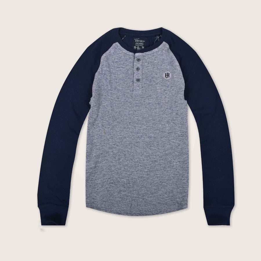Lamber Raglan Long Sleeve Signature Henley Shirt