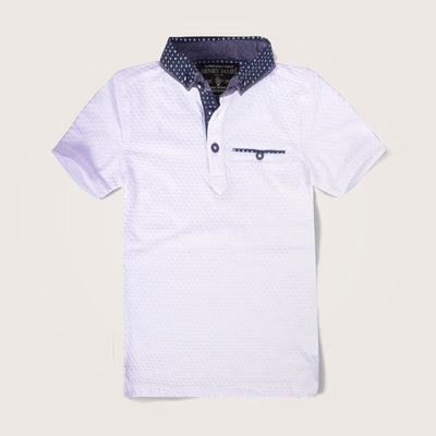 Defiance Gingham Collar Short sleeve Polo Shirt - Klashcollection.com