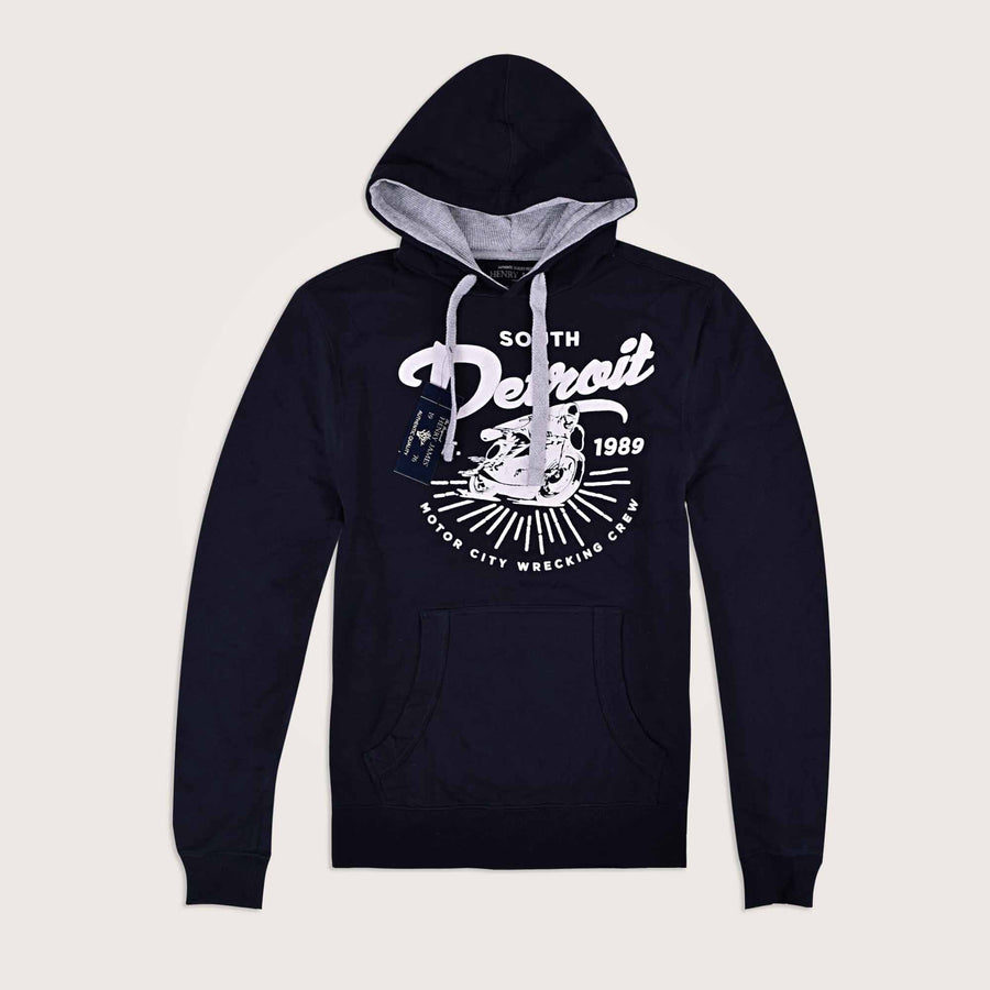 Detroit Thermal Lined Pullover Graphic Hoodie - Klashcollection.com