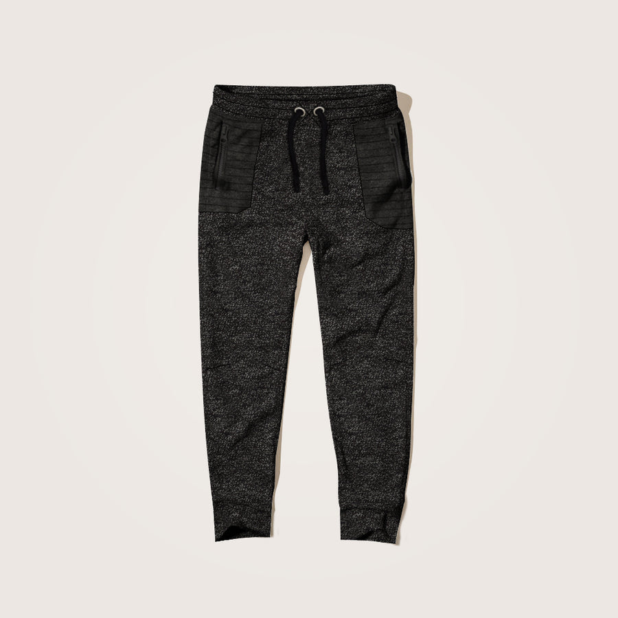 Alaric Ripple Zipper Pocket Close bottom Jogger