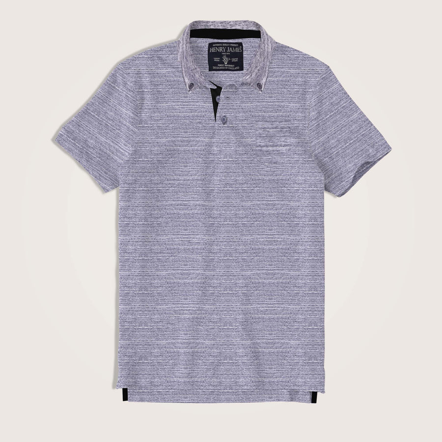Matteo Short Sleeve Textured Jersey Pocket Polo Shirt
