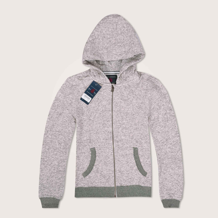 Selby Textured Double layer Zip Through Hoodie - Klashcollection.com