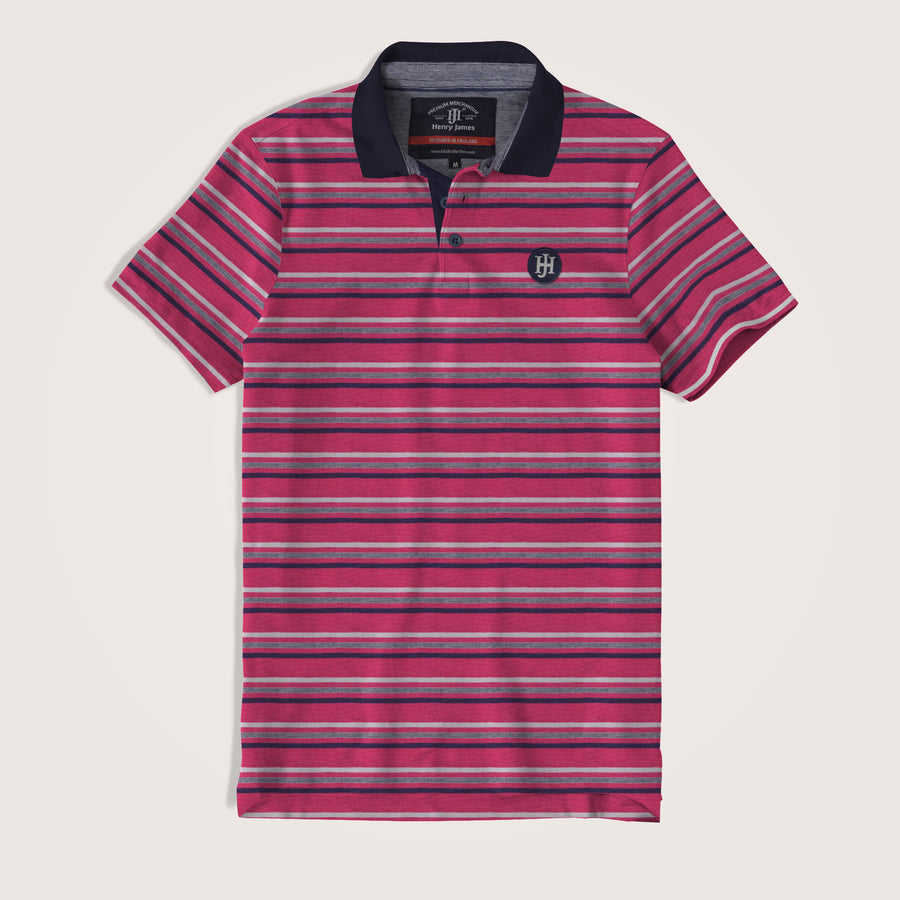 Arthur Dyed Yarn Striped Signature Polo Shirt - Klashcollection.com