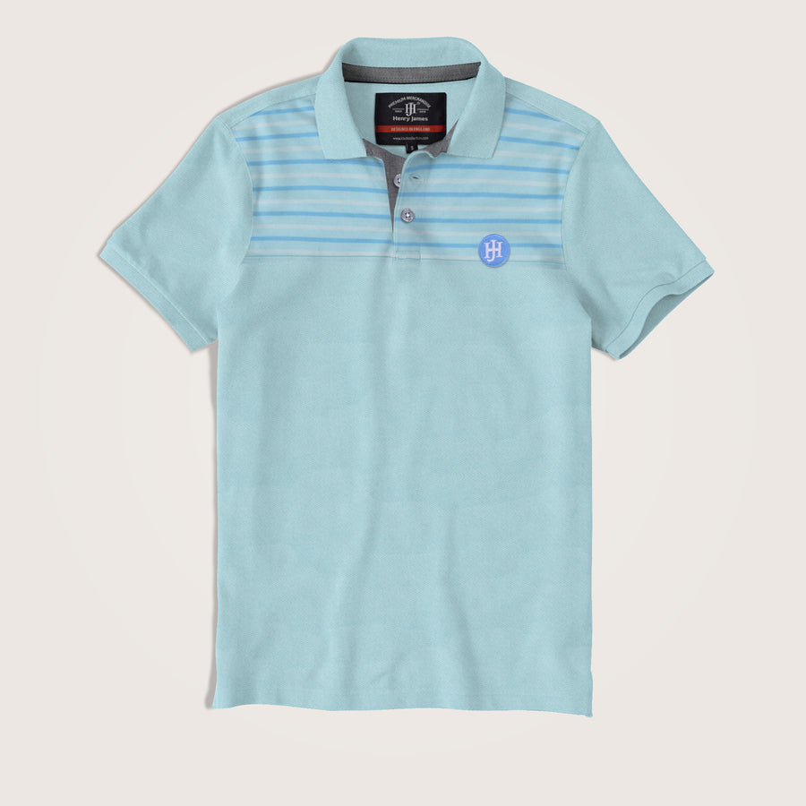 Jamie Short Sleeves Striped Paneled Signature Polo Shirt - Klashcollection.com