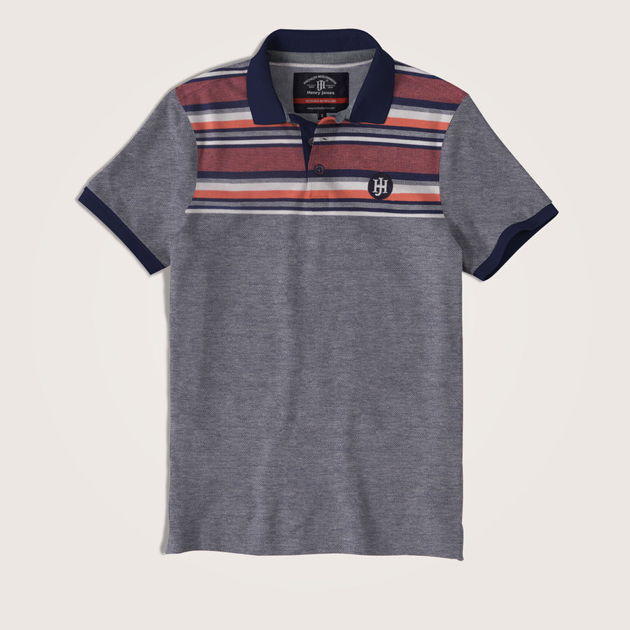 Matthew Eng Striped SIgnature Pique Polo Shirt - Klashcollection.com