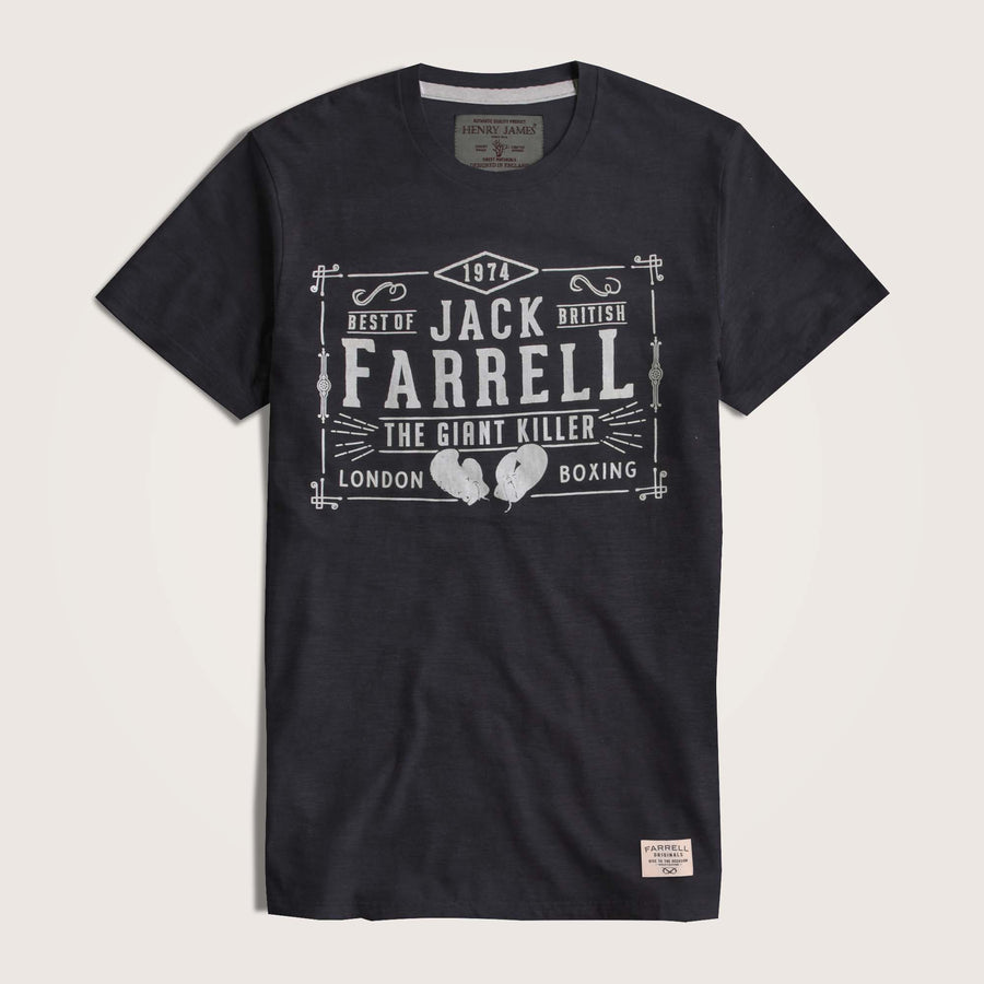 Jack Farrell Slub Yarn Crew Neck Graphic T-Shirt