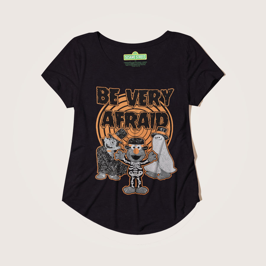 "Mariana ""Be Very Afraid"" Seamless Sleeves Graphic Tee Shirt - Klashcollection.com"