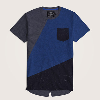 Jacopo Paneled Longline Pocket Tee shirt - Klashcollection.com