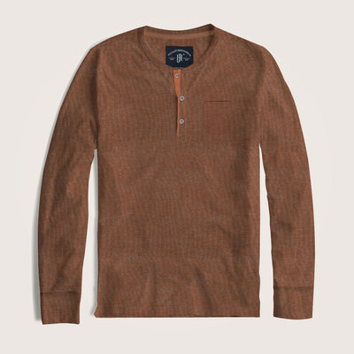 Daniel Long Sleeves Pocket Henley Shirt - Klashcollection.com