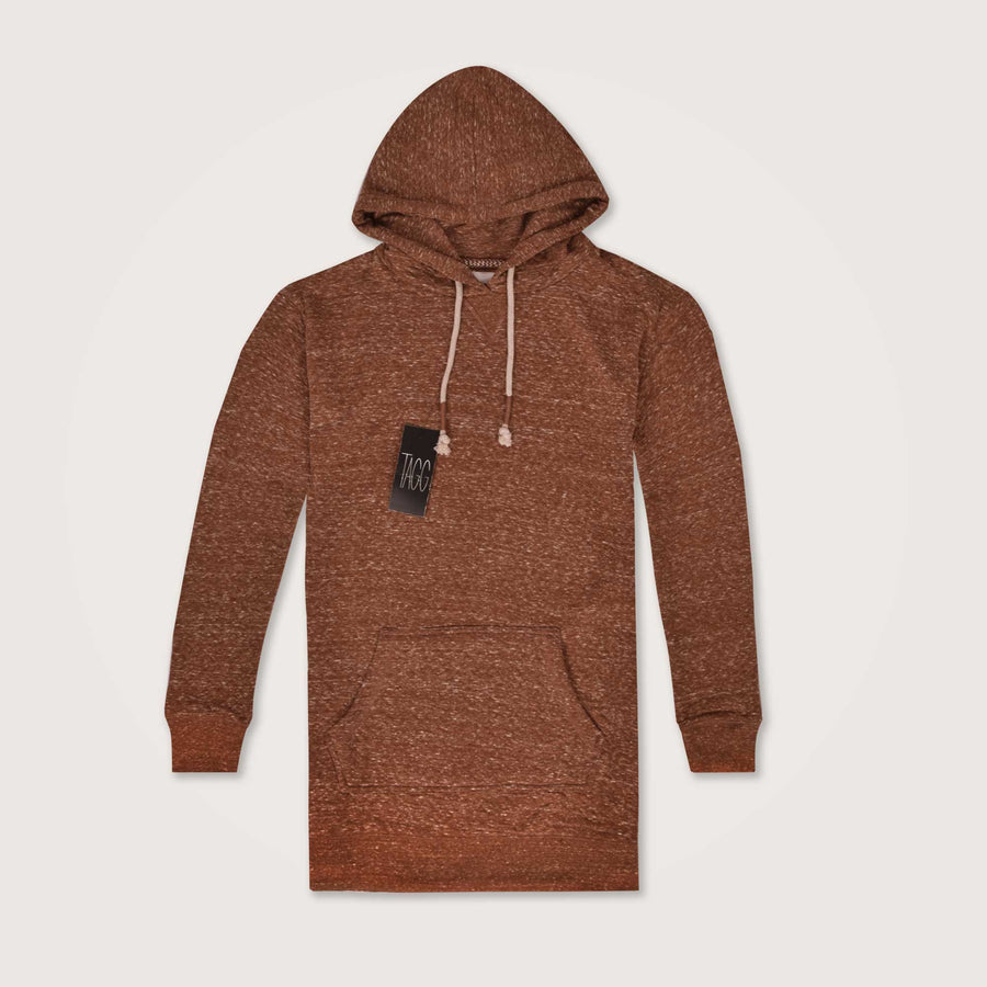 Klimper Long line Textured Super soft overhead hoodie - Klashcollection.com