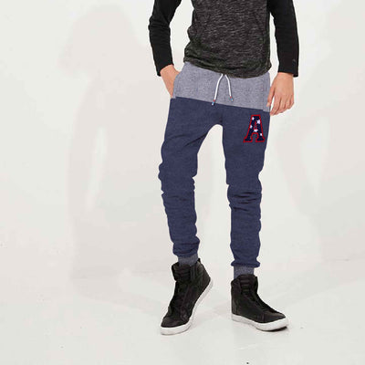 Crunch Embellished Block Paneled Close Bottom Jogger - Klashcollection.com
