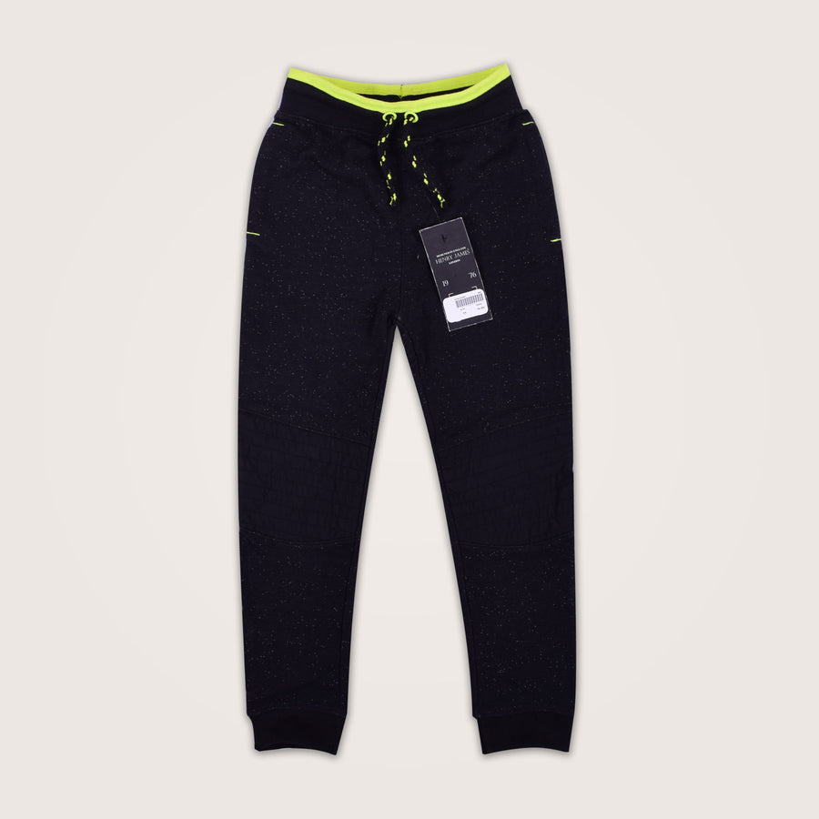 Blossom Nap Yarn Close Bottom Jogger with Knee Patches - Klashcollection.com