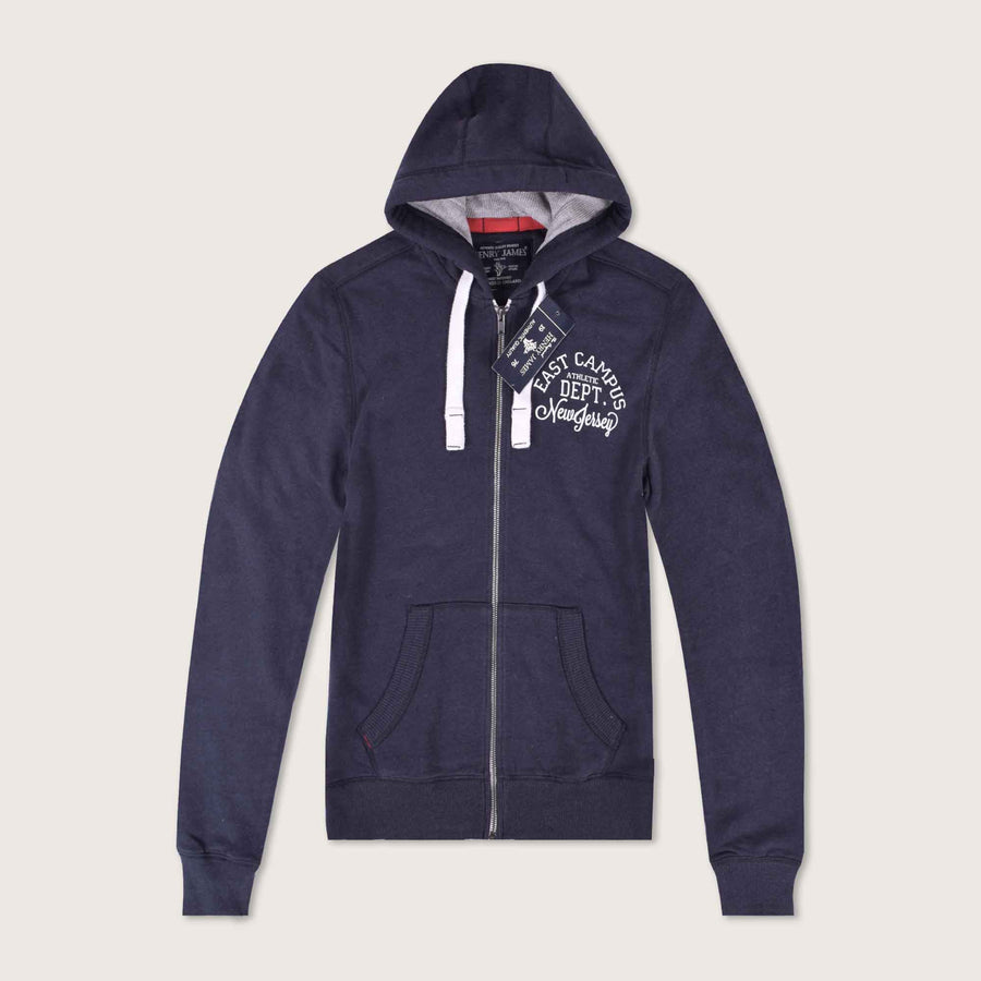East Campus Thermal Lined Zip Through Hoodie - Klashcollection.com