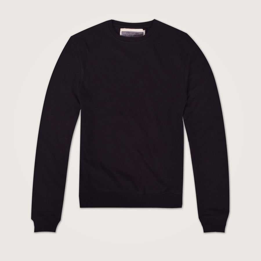 MoonWalker Jet Black Crew neck Sweat shirt