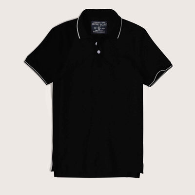 Rodrigo Tipped Collar Solid Pique Polo Shirt - Klashcollection.com